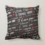 Love I Love You Throw Pillow