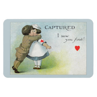 Love I Saw you First Rectangular Photo Magnet