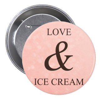 Love & ice cream button