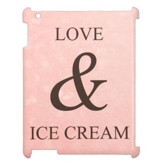 Love & ice cream iPad case