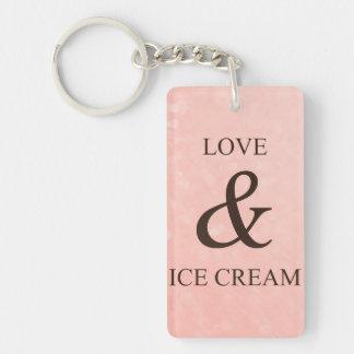 Love & ice cream keychain