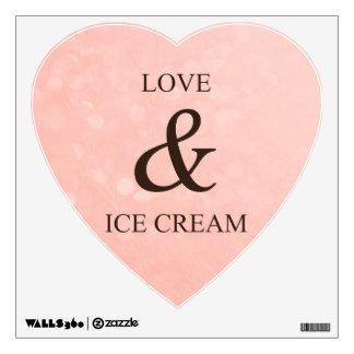 Love & ice cream wall decal