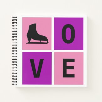 Love ice skating notebook (square)
