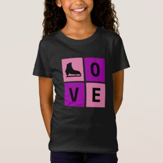 Love ice skating t-shirt (figure skating)