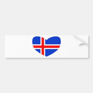Love Iceland Bumper Sticker