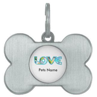 LOVE II PET NAME TAG
