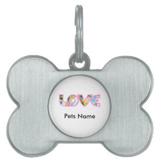 LOVE II PET NAME TAGS