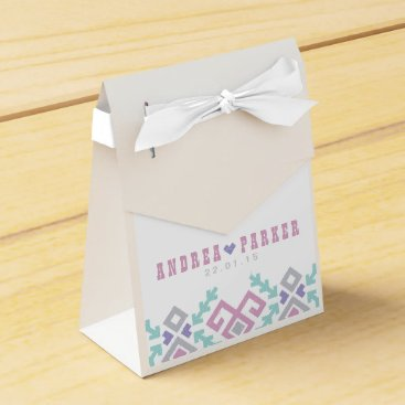 Beach Themed Love Ikat Destination Wedding Favor Box