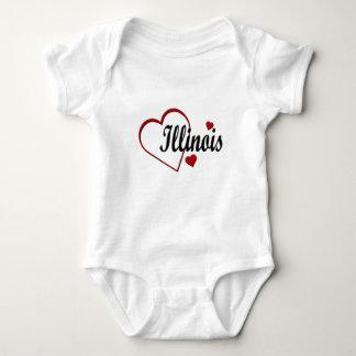 Love Illinois Hearts Infants Creeper