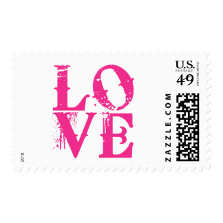 LOVE in a Cool Font Postage