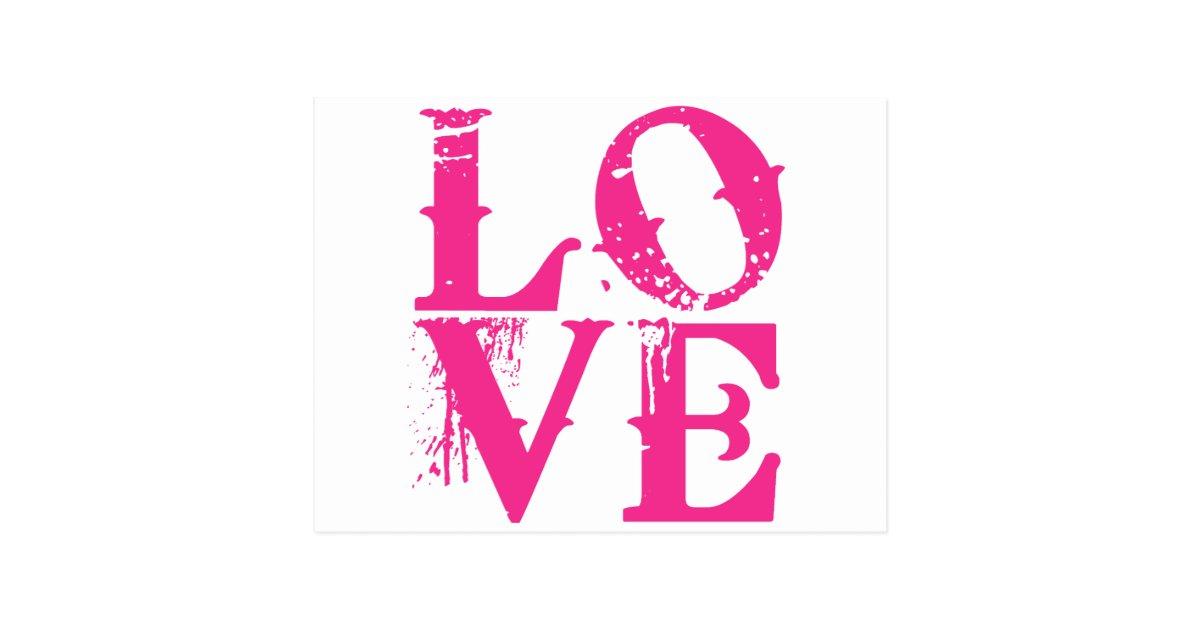 Love In A Cool Font Postcard Zazzle Com