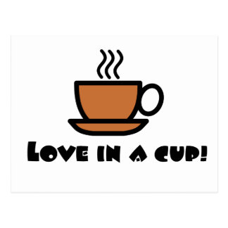 Love in a Cup Postcard