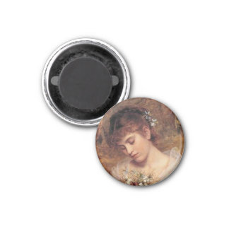 Love in a Mist by Sophie Anderson 1 Inch Round Magnet