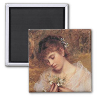 Love in a Mist by Sophie Anderson 2 Inch Square Magnet