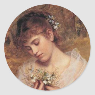 Love in a Mist by Sophie Anderson Classic Round Sticker