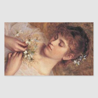 Love in a Mist by Sophie Anderson Rectangular Sticker