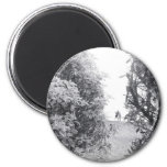 Love in a photo 2 inch round magnet