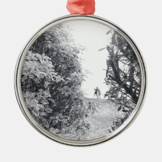 Love in a photo metal ornament