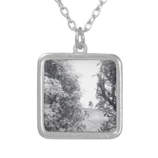 Love in a photo silver plated necklace