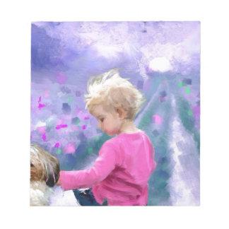 Love in a purple field.jpg memo note pads