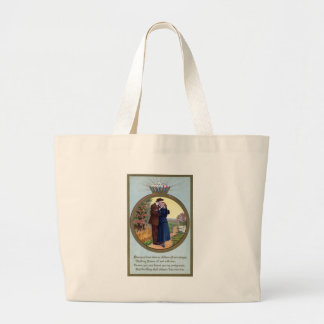 Love in a Ring Vintage Romance Large Tote Bag