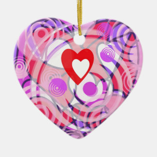 Love in a Spiral. Ceramic Ornament