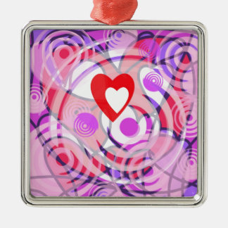 Love in a Spiral. Metal Ornament