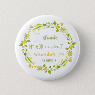 love in action romans 12:9 christian verse button