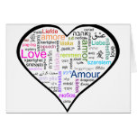 Love in all languages Heart Greeting Card