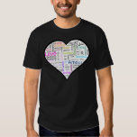 Love in all languages Heart T-shirt