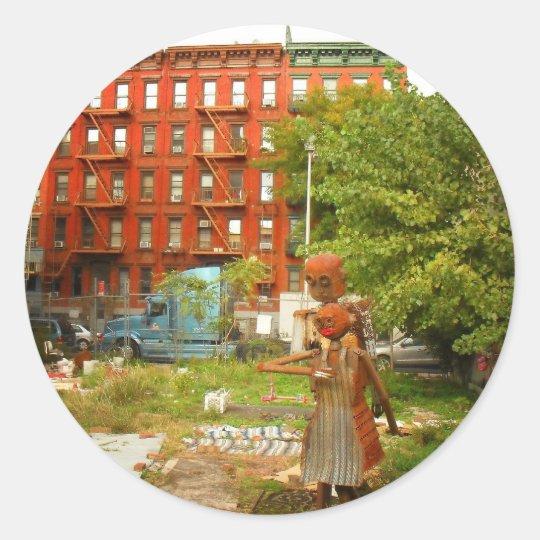 Love in Alphabet City, East Village, NYC Classic Round Sticker