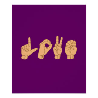 LOVE in American Sign Language Print