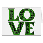 Love in an Irish Celtic Font Greeting Card