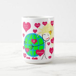 Love in any language classic white coffee mug