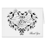 Love in any Language in Black Thank You card