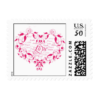 Love in Any Language in Hot Pink Postage
