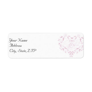 Love in Any Language in Petal Pink Address Label