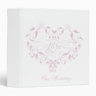 Love in any Language in Petal Pink Binder