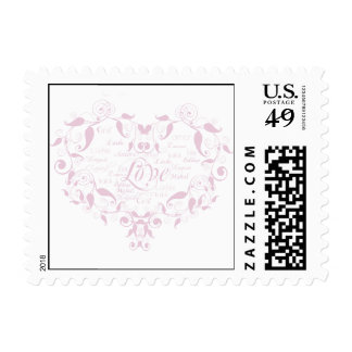 Love in Any Language in Petal Pink Postage