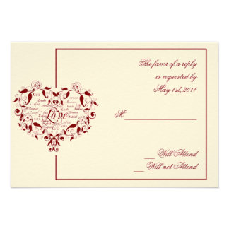 Love in Any Language in Red Response card