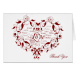 Love in any Language in Red Thank You card