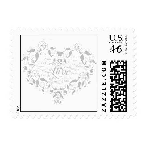 Love in Any Language in Silver Postage