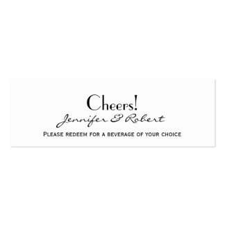 Love in Any Language Pink Wedding Drink Tickets Mini Business Card