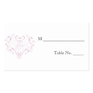 Love in Any Language Pink Wedding Place Cards
