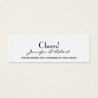 Love in Any Language Silver Wedding Drink Tickets