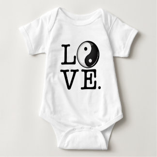 Love in Balance Shiny Yin Yang Symbol Baby Bodysuit