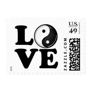 Love in Balance Shiny Yin Yang Symbol Postage