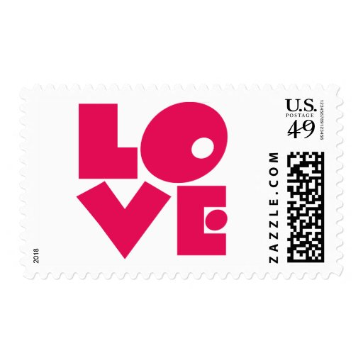 LOVE In Big Pink Letters Stamp