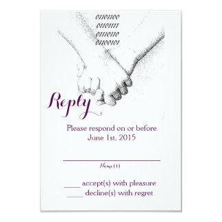 'Love in Binary' Wedding Reply Card