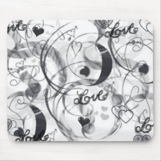 love in Black & White Mouse Pad